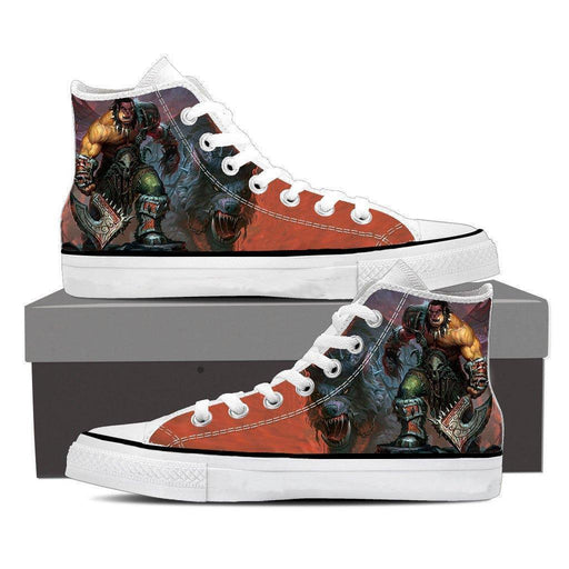 World of Warcraft Orc Warrior Grom Hellscream Sneaker Converse Shoes