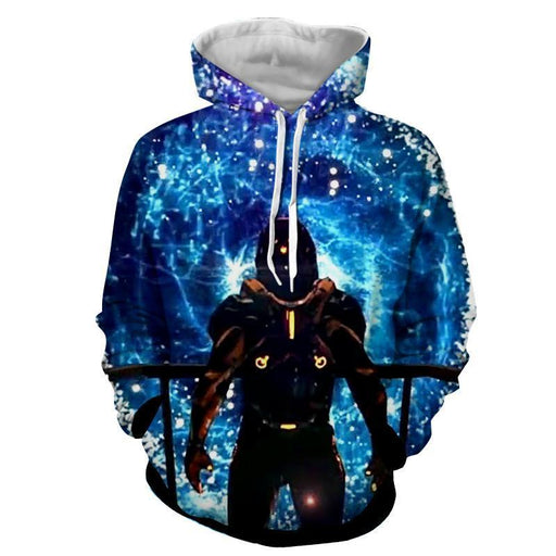 Mass Effect Captain Shepard Space Wormhole Vibrant Hoodie