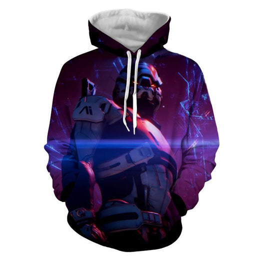 Mass Effect Turian Battle Armor Gaming Theme Cool Hoodie