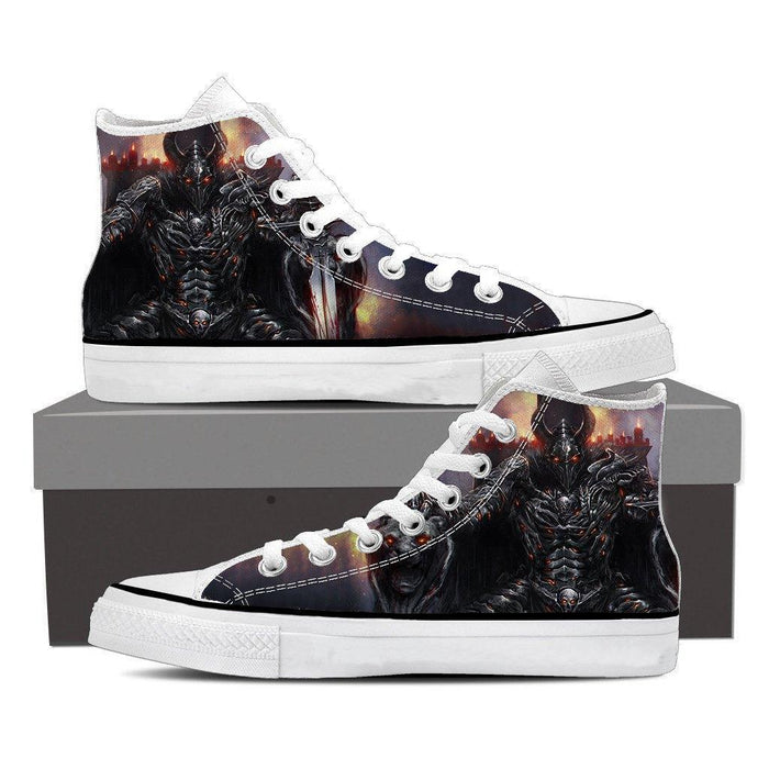 World of Warcraft Death Knight Evil Theme Gaming Sneaker Converse Shoes