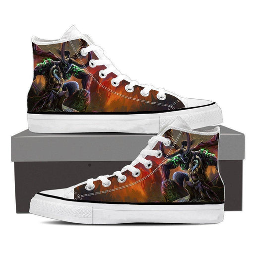 World of Warcraft Illidan Stormrage Demon Form Sneakers Converse Shoes