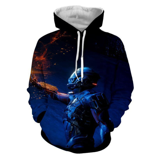 Mass Effect Tali Zorah Sexy Soldier Game Cool Style Hoodie