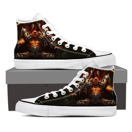 World of Warcraft Garrosh Orc Warlord Cool Game Sneakers Converse Shoes