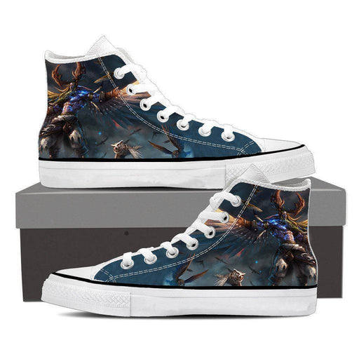 World of Warcraft Malfurion Night Elf Druid Dope Sneakers Converse Shoes