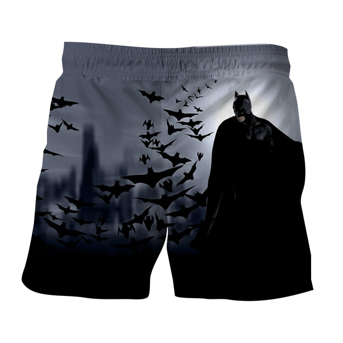 Batman With The Bats Silhouette On The Moon Full Print Short - Superheroes Gears