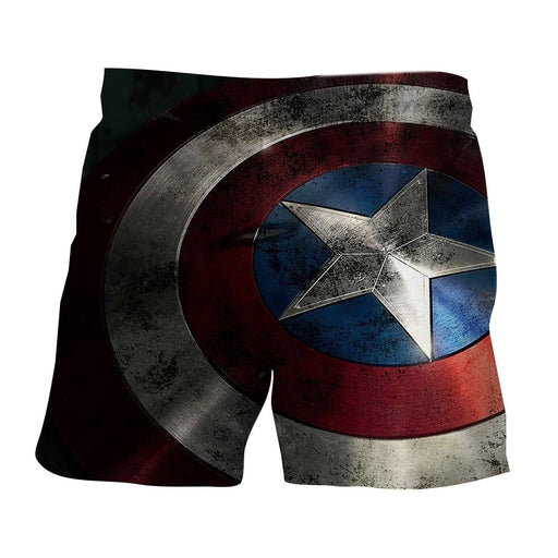 Captain America Powerful Shield 3D Full Print Boardshorts