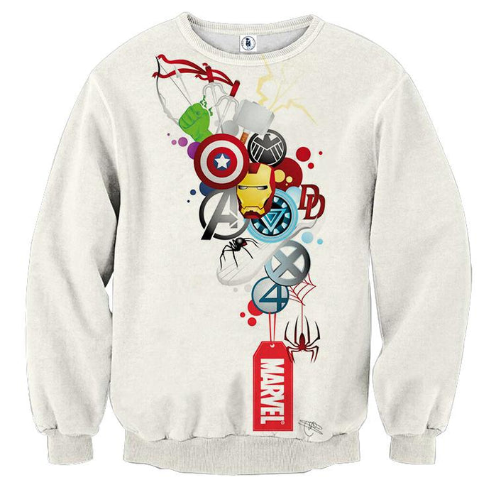 Marvel The Avengers Iron Man Symbols Dope Style Sweatshirt