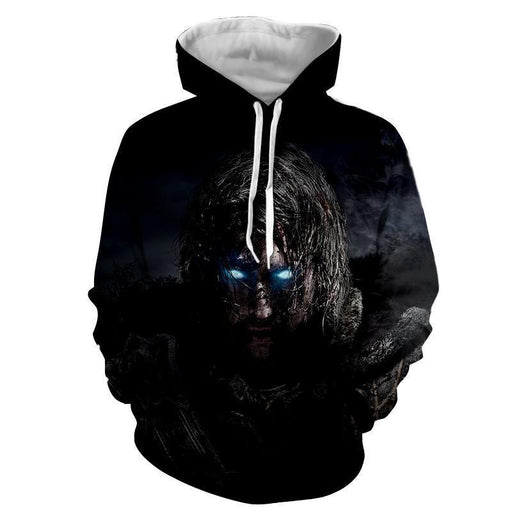 Middle Earth Shadow of Mordor Poster 3D Full Print Hoodie