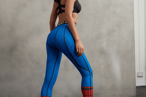 Spider-Man Theme 3D Funky Design Women Compression Fitness Leggings - Superheroes Gears