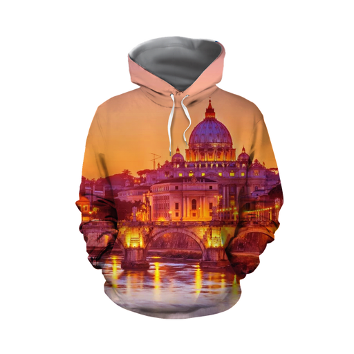 St. Peter's Basilica Beautiful Sunset Landscape Hoodie