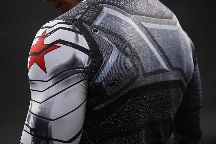 Winter Soldier 3D Printed Crossfit Long Sleeves T-shirt