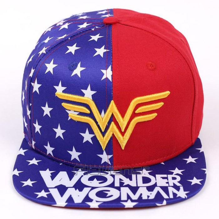 Wonder Woman Golden Symbol American Flag Cool Snapback Hat