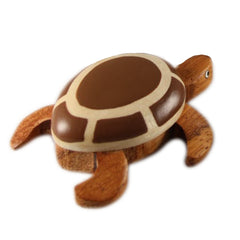 Sea Turtle Collection Small Figurine Handcrafted in Wood