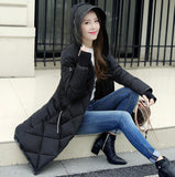 New Fashion Winter Jacket Women Spring Coat Cotton Padded Long Slim Warm Jacket Coat Female-Justt Click