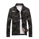 2017 Spring men's denim jacket camouflage windbreaker mens Slim Coats jaqueta masculina male Fashion Outerwear & Coats Plus 4XL-Justt Click