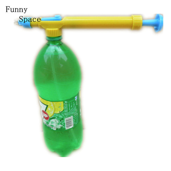 Funny Space Water Gun In Toy Guns Beverage Bottle Interface Plastic Trolley Gun Sprayer Head Water Pressure Outdoor Funny Sports-Justt Click