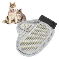 Hot sell practical cloth dog hair cleaning brush comb massage bath glove tools pet accessories products for dogs cat grooming-Justt Click