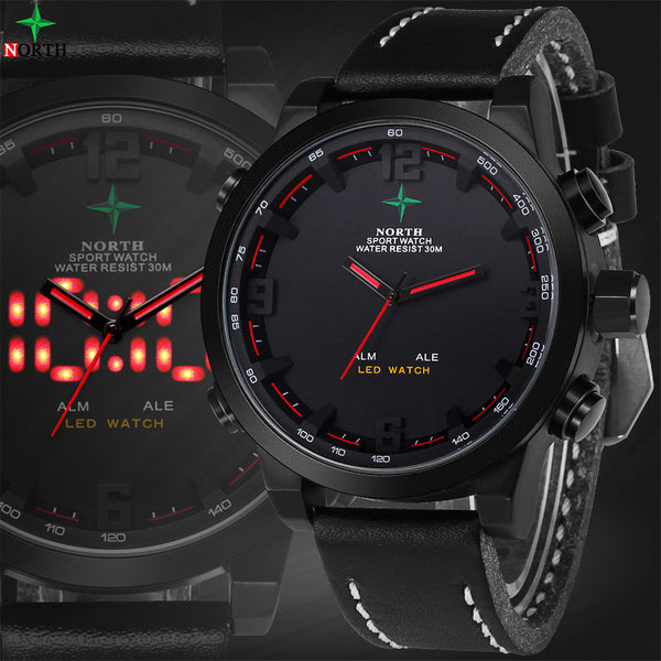 Mens Watches Top Brand Luxury Digital-Watch Waterproof Quartz-Watch LED Wristwatch Digital Watch Men Sport-Justt Click