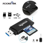 Rocketek USB 3.0 Memory Card Reader and OTG phone card reader high quality 2 Card Reader-Justt Click