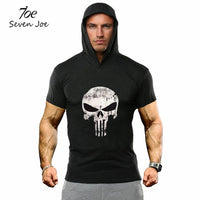 Mens Cotton Workout Hoodie Gym Muscle Pullover Sweatshirt Cotton Coat-Justt Click