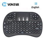 Vontar i8 mini keyboard English Li-ion battery Version i8+ Air Mouse Remote Control Touchpad-Justt Click