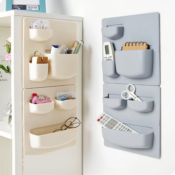 Home Storage Wall Suction Cup Plastic Storage Rack Cosmetic Toiletries Sundries Storage Holder Bathroom Organizer-Justt Click