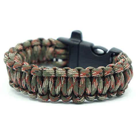550 PARACORD SURVIVAL BRACELET - ARMY GREEN CAMO - Hock Gift Shop | Army Online Store in Singapore