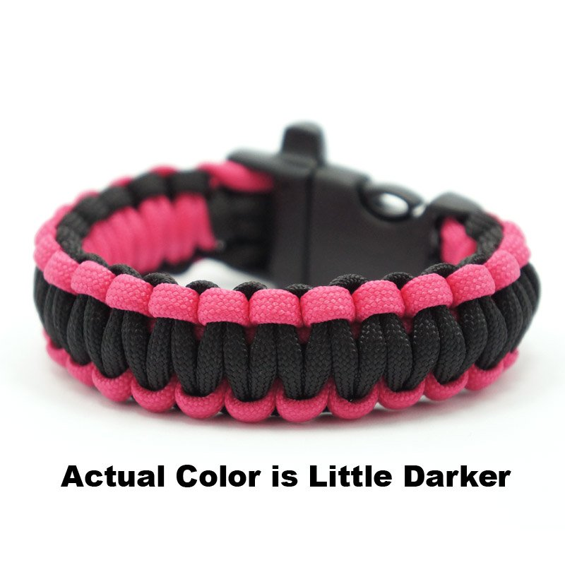 550 PARACORD SURVIVAL BRACELET - BLACK FUCHSIA - Hock Gift Shop | Army Online Store in Singapore