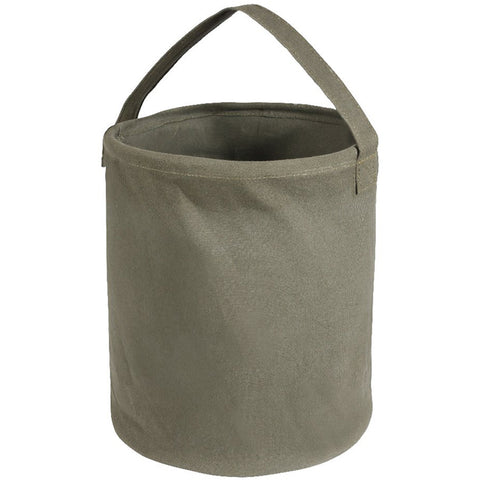 "ROTHCO CANVAS WATER BUCKET - 13"" X 11"" (OD GREEN)"