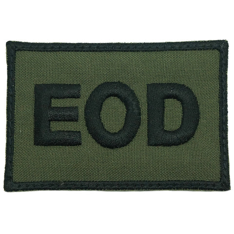 EOD CALL SIGN PATCH - OD GREEN
