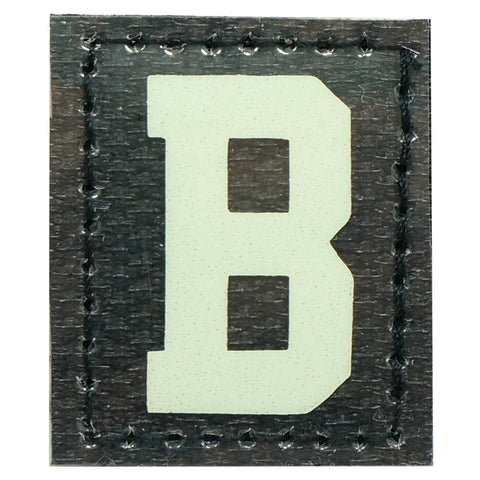 HGS LETTER B PATCH - GLOW IN THE DARK