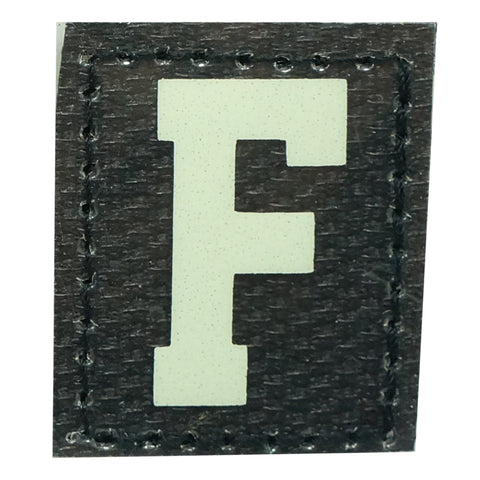 HGS LETTER F PATCH - GLOW IN THE DARK