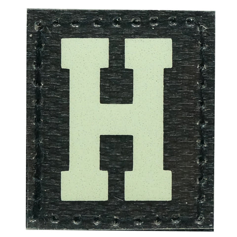 HGS LETTER H PATCH - GLOW IN THE DARK