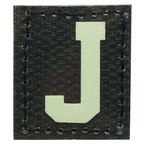 HGS LETTER J PATCH - GLOW IN THE DARK