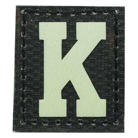 HGS LETTER K PATCH - GLOW IN THE DARK
