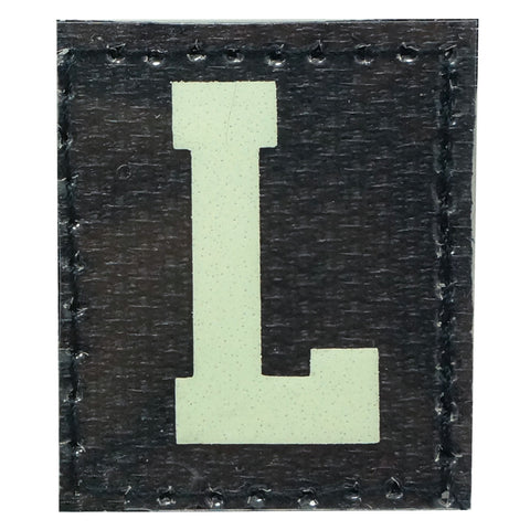 HGS LETTER L PATCH - GLOW IN THE DARK