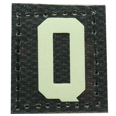 HGS LETTER Q PATCH - GLOW IN THE DARK