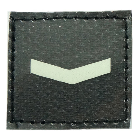GLOW IN THE DARK RANK PATCH - PRIVATE
