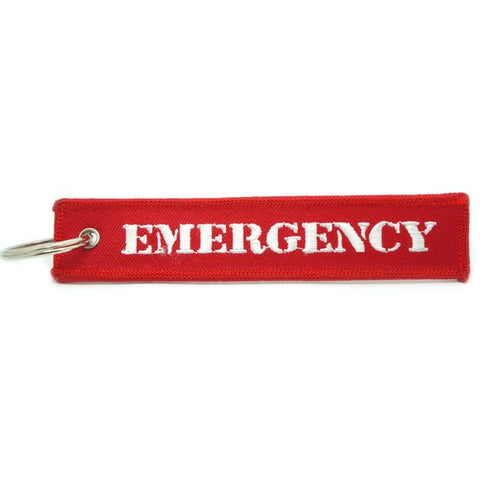 RED KEYCHAIN - EMERGENCY - Hock Gift Shop | Army Online Store in Singapore