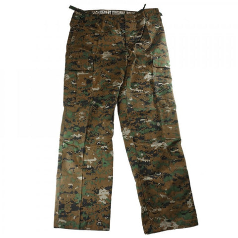 HIGH DESERT TACTICAL B.D.U CARGO PANTS - WOODLAND DIGITAL 2014 - Hock Gift Shop | Army Online Store in Singapore