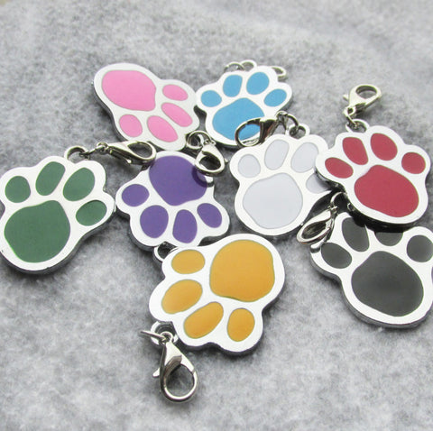 PAW SHAPED ZINC ALLOY PET TAG - 2019 VERSION