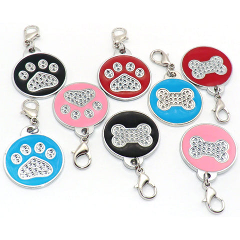 ROUND GLITTER ZINC ALLOY PET TAG - 2019 VERSION