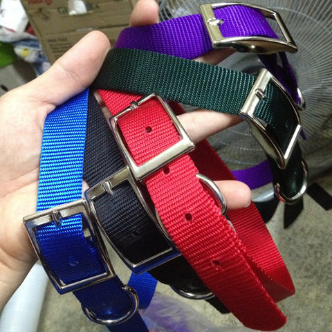 "ADJUSTABLE NYLON METAL BUCKLE COLLARS (11"" TO 15"") - Hock Gift Shop 