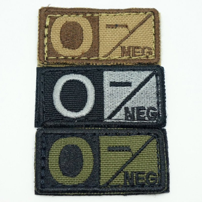 CONDOR BLOOD TYPE VELCRO PATCH - O NEG