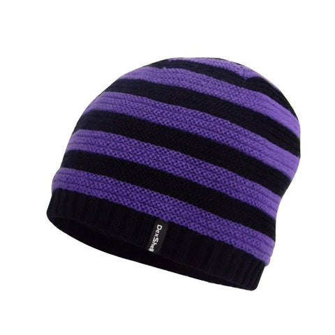 DEXSHELL CHILDREN BEANIE - BLACK WITH PURPLE