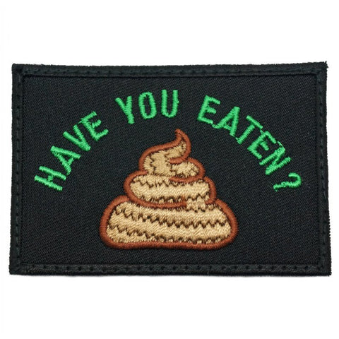 HAVE YOU EATEN PATCH - BLACK