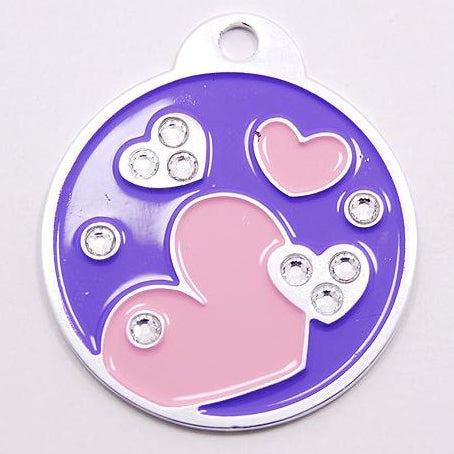 HEARTS PET TAG