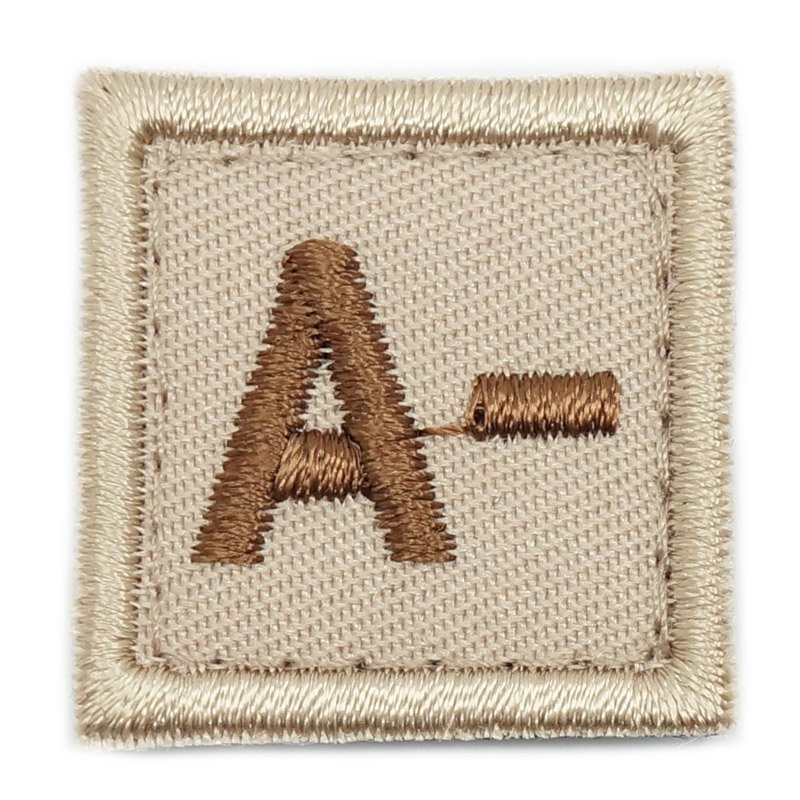 "HGS BLOOD GROUP 1"" PATCH, A- (KHAKI) - Hock Gift Shop 