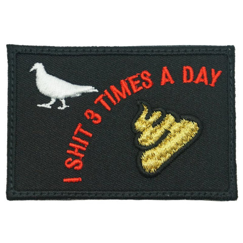 I SHIT 3 TIMES A DAY PATCH - BLACK - Hock Gift Shop | Army Online Store in Singapore
