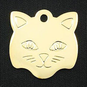 KITTY FACE BRASS TAG (GOLD) - Hock Gift Shop | Army Online Store in Singapore